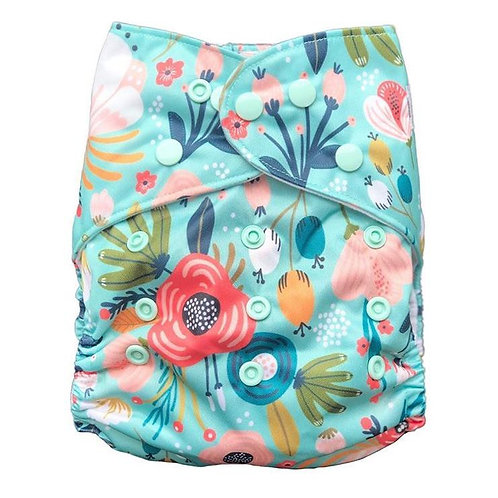 Yoho & Co OSFM Pocket Nappy (Fleur)