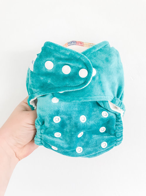 Baby Bare Honey Pot Fitted Nappy (Jade)