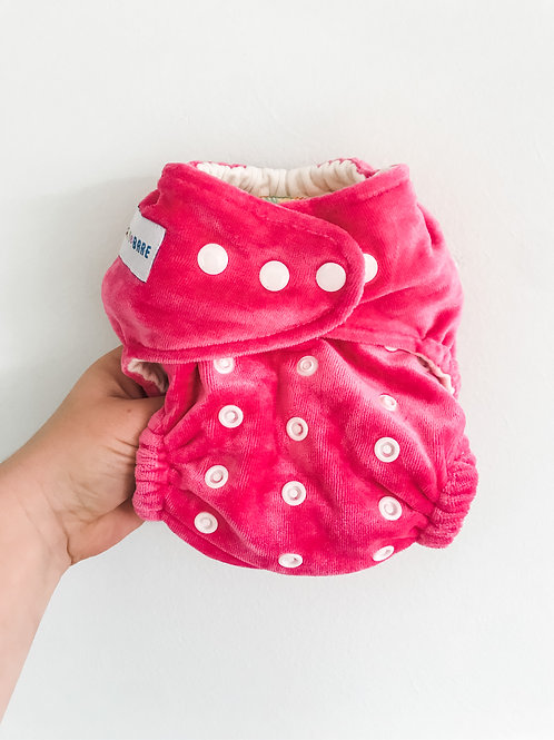 Baby Bare Honey Pot Fitted Nappy (Hot Pink)
