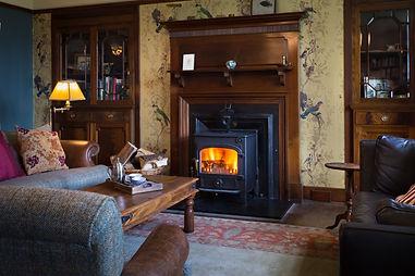 Log fire and Timorous Beastie luxury