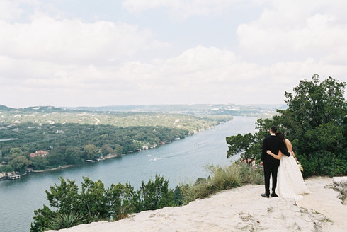 Intimate Austin Wedding Atop Mt. Bonnell + Brunch at Olive & June | Film Wedding Photography | F
