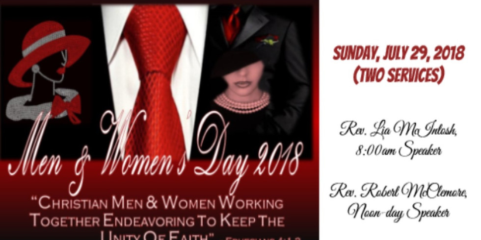 2018 MEN & WOMEN'S DAY - 2 SERVICES