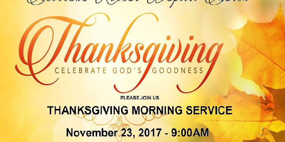 THANKSGIVING MORNING SERVICE