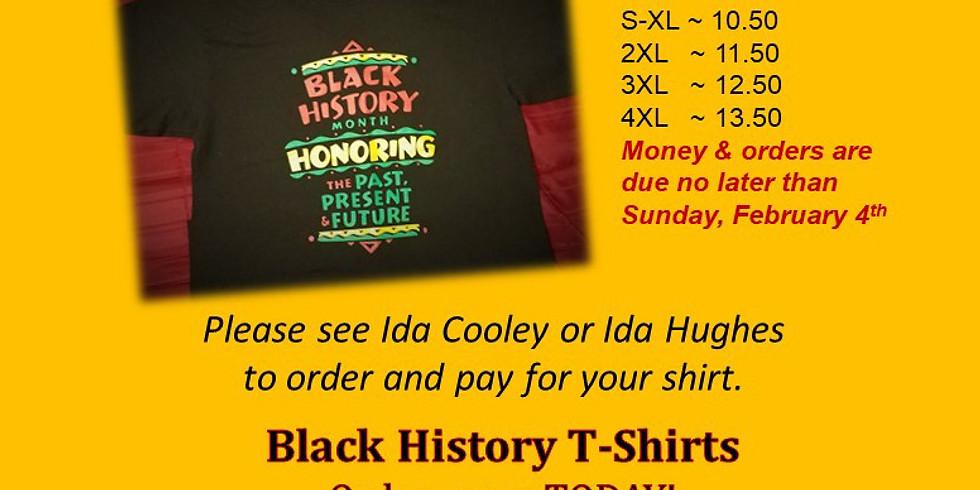 BLACK HISTORY - T-Shirts Available