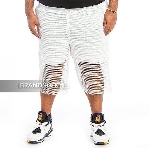 3-D Netted Basketball Short