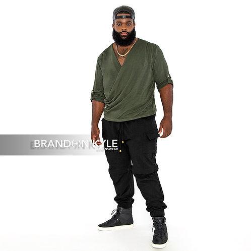 Draped Long Sleeve Shirt