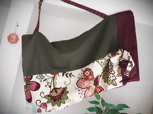 Olive and Burgundy Floral