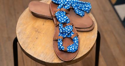 sandales palosa bleues