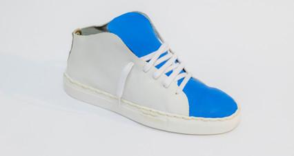 basket bleu et blanche