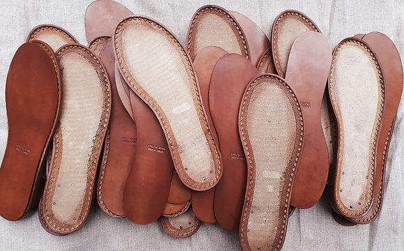 Semelles pour sandales cuir