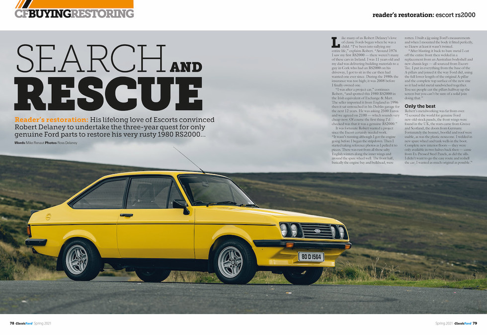 classic ford spring 2021 escort rs2000.j