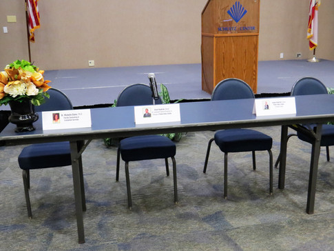Panel Discussion Set-Up