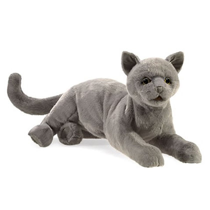 FM3113 - Purring Grey Cat Puppet