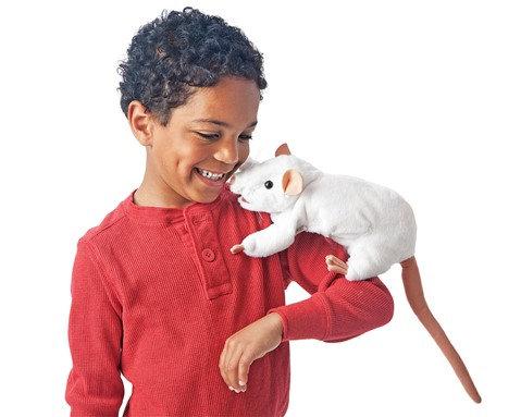 FM3038 - White Rat Hand Puppet
