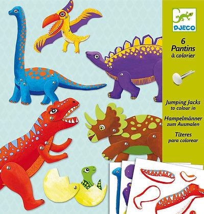 DJ9680 - Dinosaur Split Pin Puppet Making Kit