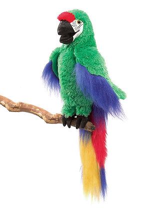 FM3078 - Green Macaw Puppet