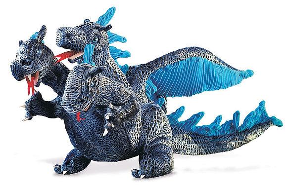 FM2387 - Blue 3 Head Dragon Puppet