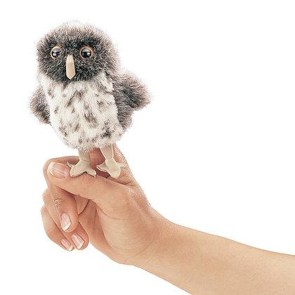 FM2638 - Mini Spot Owl Grey Finger Puppet