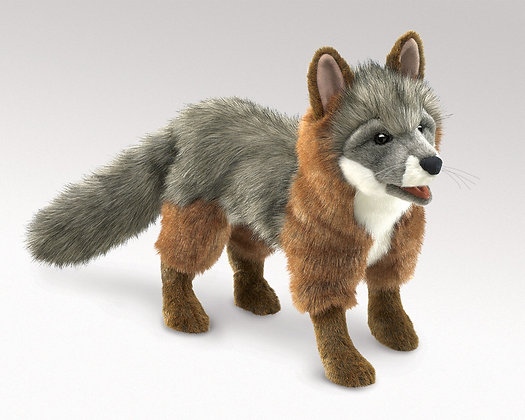 FFM3032 - Grey Fox Hand Puppet