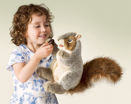 FM2553 - Grey Squirrel Puppet