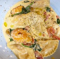 Sweet N' Spicy Sweet Potato Ravioli