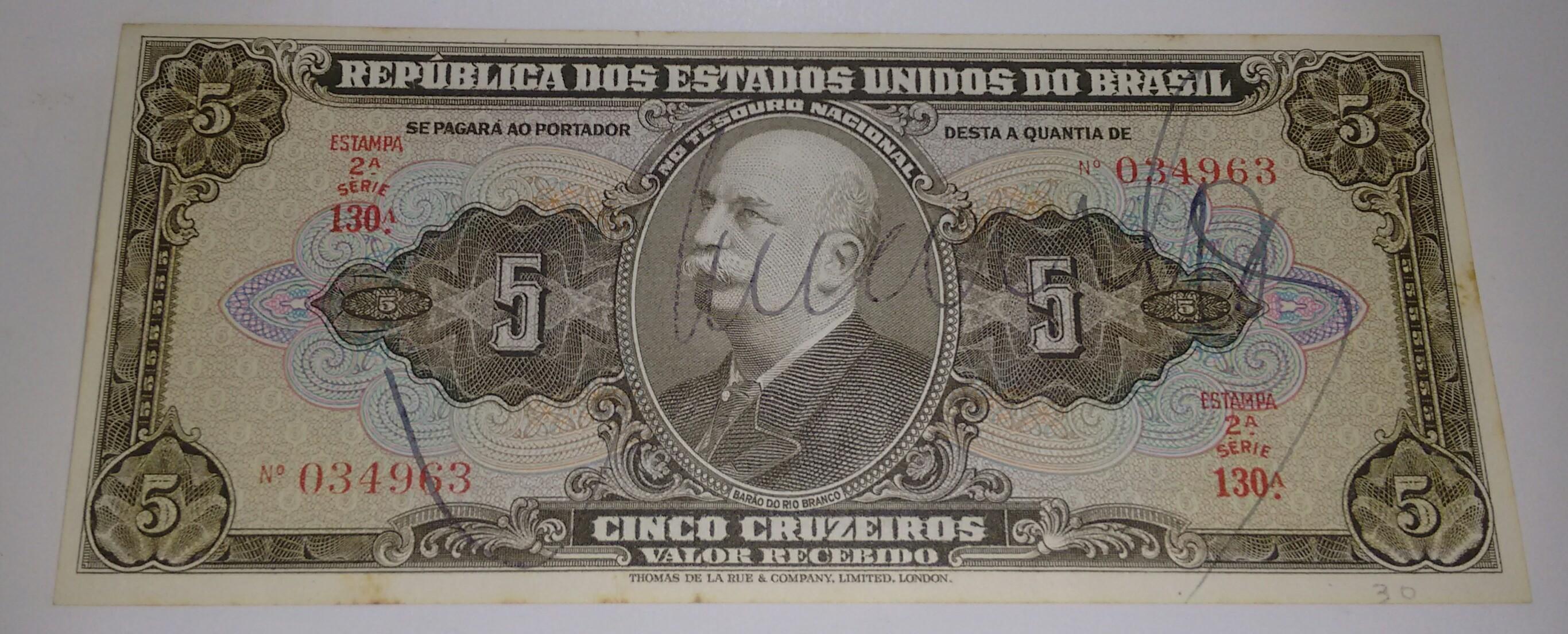 5 CRUZEIROS
