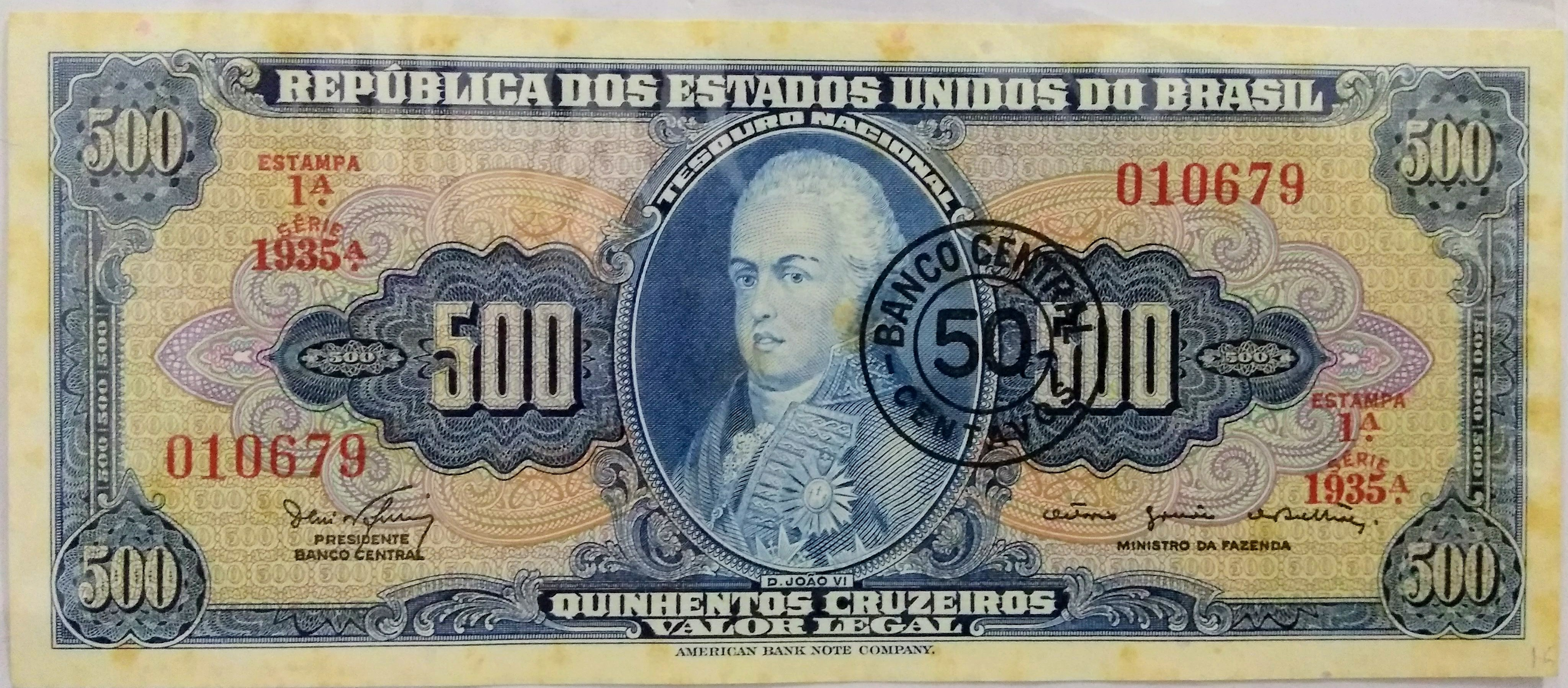50 CENTAVOS - CARIMBO CRUZEIRO NOVO