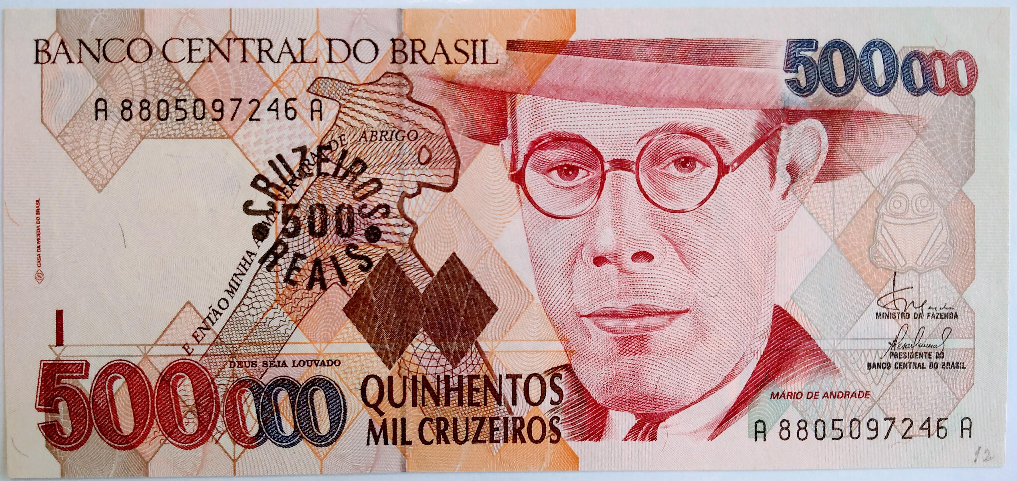 500 CRUZEIROS REAIS