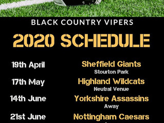 VIPERS' 2020 SCHEDULE