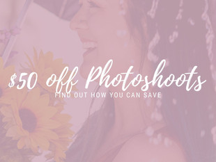 OFFER: $50 Off Photoshoots Booked in April