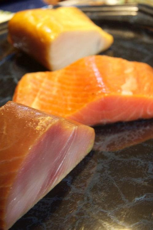 Unsere Besten ca.700g Lachs,Buttermakrele & Thunfisch kalt geräuchert