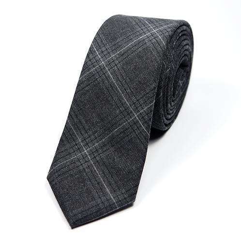 Glen Plaid Flannel Tie (grey)