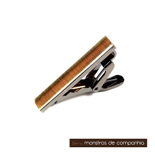 Pinch Clasp Bronze Tie Bar