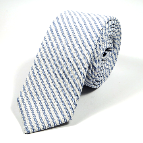 Ivy League Striped Tie (light blue)