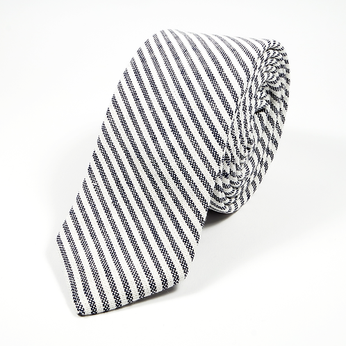 Ivy League Striped Tie (black)