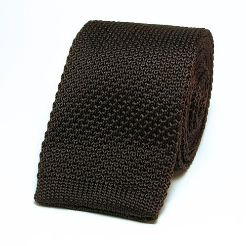 Dark Brown Knit Tie