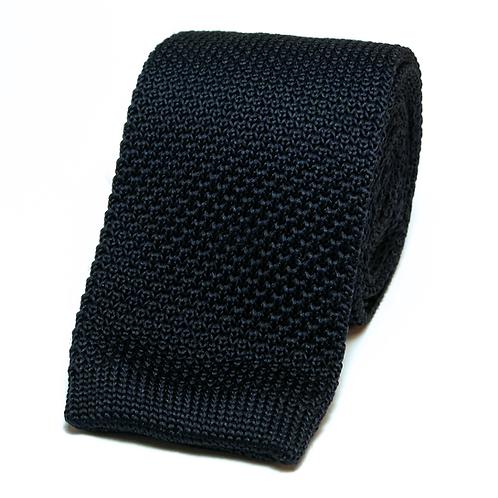 Navy Blue Knit Tie