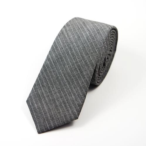 Fifties Pinstripe Worsted Tie (grey)