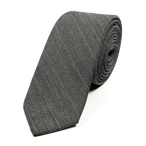 Sixties Striped Tie (grey/yellow)