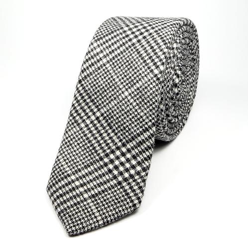Glen Plaid Wool Tie (grey)
