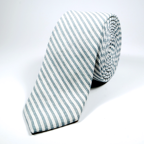 Ivy League Striped Tie (grey)