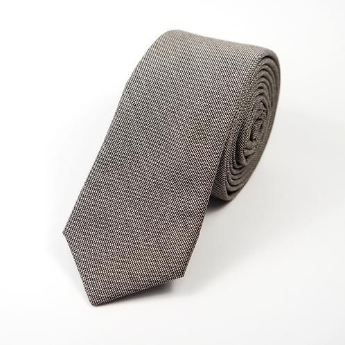 Houndstooth Tie (brown over beige)