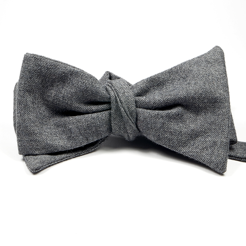 Wool Flannel Bowtie (grey)