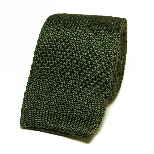 Army Green Knit Tie