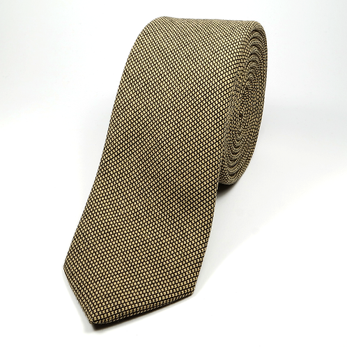 Nailshead Wool Tie (gold)