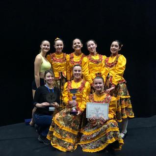 Le groupe de danse de carctère qui a remporté le trophée du coup de coeur du jury avec un 1er prix !!!