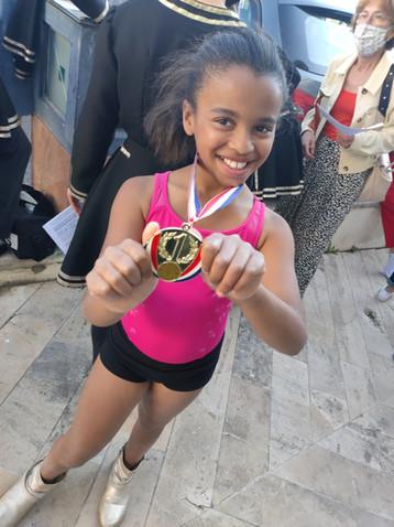 Une de nos médaillées en  jazz.