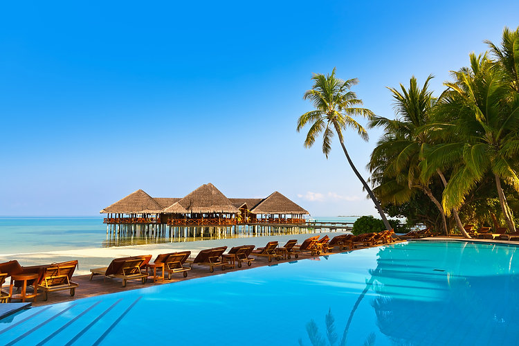 Pool on tropical Maldives island - nature travel background.jpg