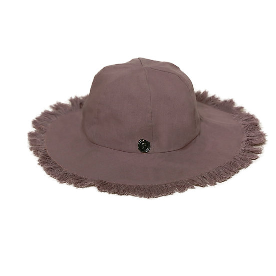 Bucket Hat in indian pink coton