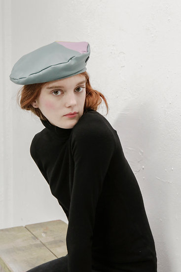 'La Rêverie' LAMBSKIN PATCHWORK LEATHER BERET